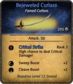 Bejeweled Cutlass Card