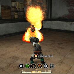 Staff flaming skull 2