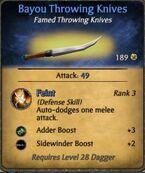 Bayou Throwing Knives