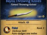 Bayou Throwing Knives