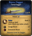 Bayou Dagger Card.png