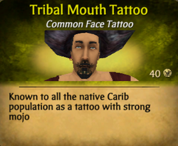 Tribal Mouth Tattoo