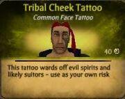Tribal Cheek Tattoo