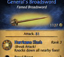 General's Broadsword