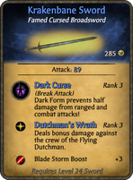 Krakenbane Sword Card