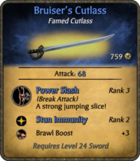 Bruiser's Cutlass Card