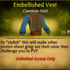 Yellow Embellished Vest