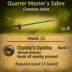 Quarter Master's Sabre
