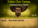 Tribal Chin Tattoo