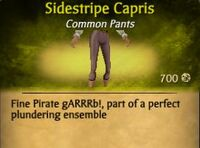 F Sidestripe Capris