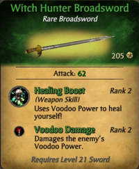Witch Hunter Broadsword - clearer