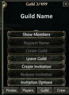 Guild Option Menu
