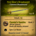 First Mate's Broadsword
