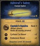 Admiral's Sabre Card