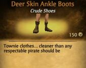 Deer Skin Ankle Boots