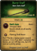 Burnt Staff Card