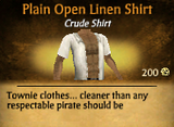 Plain Open Linen Shirt