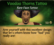 Voodoo Thorns Tattoo clearer
