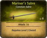 Mariner's Sabre Card