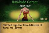 F Rawhide Corset