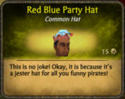 Red Blue Party Hat