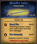 Bloodfire sabre