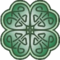 Tattoo chest color celtic4leaf