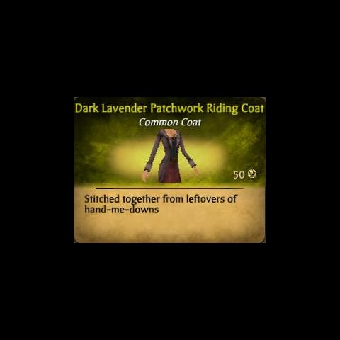 Dark Lavender Patchwork Riding Coat