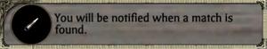 Match notification