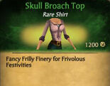 F Skull Broach Top