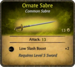 Ornate Sabre Card