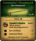 Commander's Broadsword Card