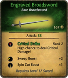Engraved Broadsword