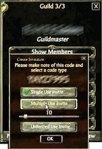 Create Guild Invite