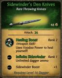 Sidewinder's Den Knives Card