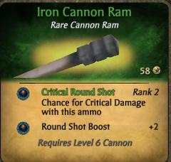 Iron ram clearer