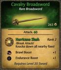 Cavalry Broadsword Card