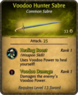 Voodoo Hunter Sabre Card