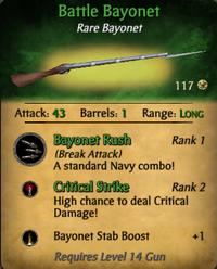 Battle bayonet clearer
