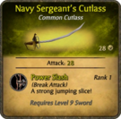 Navy Sergeant's Cutlass Card