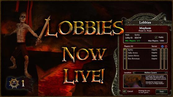 Lobbies Now Live!