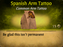 Spanish ArmTattoo