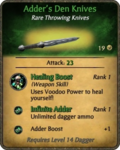 Adder's Den Knives Card