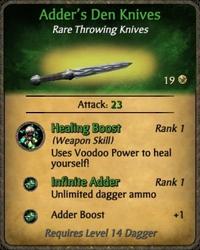 Adder's Den Knives Card