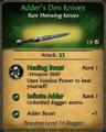 Adder's Den Knives Card.png