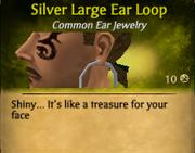 SilverLargeEarLoop