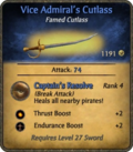 Vice Admiral's Cutlass Card