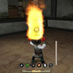 Staff Flaming Skull