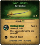 War Cutlass Card