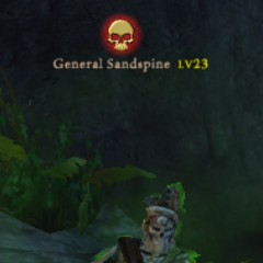 Sandspine orders his troops in MInertown to serve the Dark Lord, Jolly Roger.